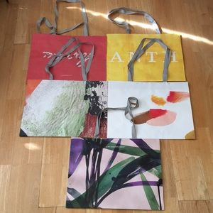 5 Anthropologie shopping bags (assorted design)